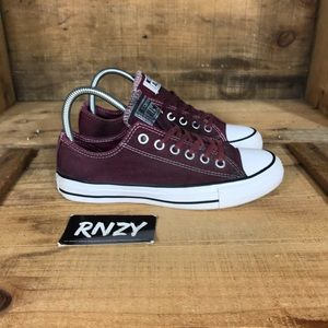 Converse All Star Low Maroon Canvas Sneaker